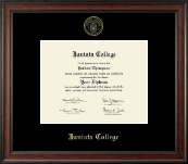 Juniata College Diploma Frame - Gold Embossed Diploma Frame in Studio