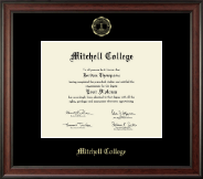 Mitchell College Diploma Frame - Gold Embossed Diploma Frame in Studio