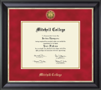 Mitchell College Diploma Frame - Gold Engraved Medallion Diploma Frame in Noir