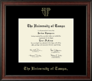 University of Tampa Diploma Frame - Gold Embossed Diploma Frame in Studio