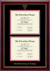 University of Tampa Diploma Frame - Double Diploma Frame in Gallery