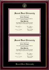 Sacred Heart University Diploma Frame - Double Diploma Frame in Gallery