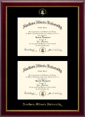 Northern Illinois University Diploma Frame - Double Diploma Frame in Gallery