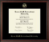 Texas A&M International University in Laredo Diploma Frame - Gold Embossed Diploma Frame in Studio