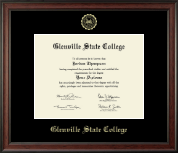 Glenville State College Diploma Frame - Gold Embossed Diploma Frame in Studio