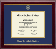 Glenville State College Diploma Frame - Gold Embossed Diploma Frame in Gallery