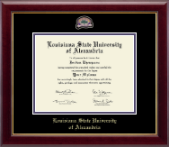 Louisiana State University of Alexandria Diploma Frame - Masterpiece Medallion Diploma Frame in Gallery