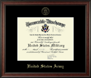 US Army Honorable Discharge Certificate Frame in Studio