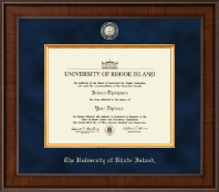 The University of Rhode Island Diploma Frame - Presidential Masterpiece Diploma Frame in Madison