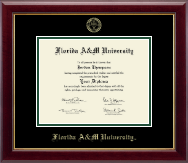 Florida A&M University Diploma Frame - Gold Embossed Diploma Frame in Gallery