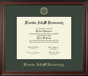 Florida A&M University Diploma Frame - Gold Embossed Diploma Frame in Studio