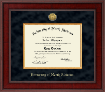 University of North Alabama Diploma Frame - Presidential Gold Engraved Diploma Frame in Jefferson