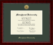Mercyhurst University  Diploma Frame - Gold Engraved Medallion Diploma Frame in Sutton