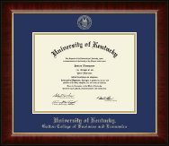 University of Kentucky Diploma Frame - Gold Embossed Diploma Frame in Murano