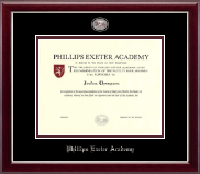 Phillips Exeter Academy Diploma Frame - Masterpiece Medallion Diploma Frame in Gallery Silver