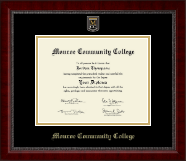 Monroe Community College Diploma Frame - Masterpiece Medallion Diploma Frame in Sutton