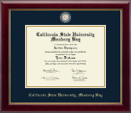 California State University Monterey Bay Diploma Frame - Masterpiece Medallion Diploma Frame in Gallery