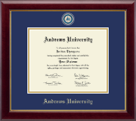 Andrews University Diploma Frame - Masterpiece Medallion Diploma Frame in Gallery