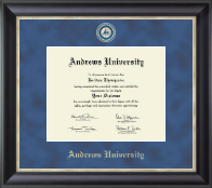Andrews University Diploma Frame - Regal Edition Diploma Frame in Noir