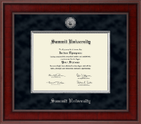 Summit University Diploma Frame - Presidential Silver Engraved Diploma Frame in Jefferson