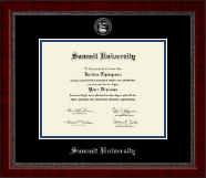 Summit University Diploma Frame - Silver Embossed Diploma Frame in Sutton