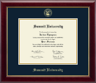 Summit University Diploma Frame - Gold Embossed Diploma Frame in Gallery