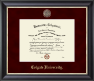 Colgate University Diploma Frame - Regal Edition Diploma Frame in Noir