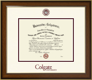 Colgate University Diploma Frame - Dimensions Diploma Frame in Westwood
