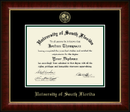 University of South Florida Diploma Frame - Gold Embossed Diploma Frame in Murano