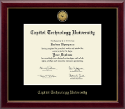 Capitol Technology University Diploma Frame - Gold Engraved Medallion Diploma Frame in Gallery