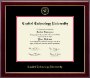 Capitol Technology University Diploma Frame - Gold Embossed Diploma Frame in Gallery