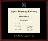 Capitol Technology University Diploma Frame - Gold Embossed Diploma Frame in Camby