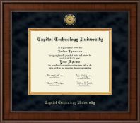 Capitol Technology University Diploma Frame - Presidential Gold Engraved Diploma Frame in Madison