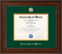 University of Miami Diploma Frame - Presidential Masterpiece Diploma Frame in Madison