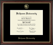 Belhaven University Diploma Frame - Gold Embossed Diploma Frame in Studio Gold