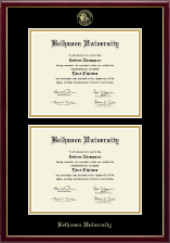 Belhaven University Diploma Frame - Double Diploma Frame in Galleria