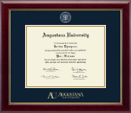 Augustana University Diploma Frame - Masterpiece Medallion Diploma Frame in Gallery