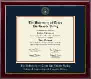 The University of Texas Rio Grande Valley Diploma Frame - Gold Embossed Diploma Frame in Gallery