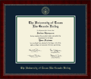 The University of Texas Rio Grande Valley Diploma Frame - Gold Embossed Diploma Frame in Sutton