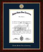 United States Naval Academy Diploma Frame - Masterpiece Medallion Diploma Frame in Murano