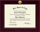 San Juan College Diploma Frame - Century Gold Engraved Diploma Frame in Cordova