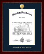 United States Naval Academy Diploma Frame - 23K Medallion Diploma Frame in Sutton