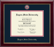 Rogers State University Diploma Frame - Masterpiece Medallion Diploma Frame in Gallery