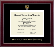 Missouri Western State University Diploma Frame - Masterpiece Medallion Diploma Frame in Gallery