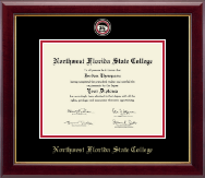 Northwest Florida State College Diploma Frame - Masterpiece Medallion Diploma Frame in Gallery