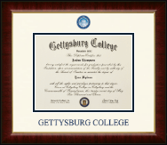 Gettysburg College Diploma Frame - Dimensions Diploma Frame in Murano