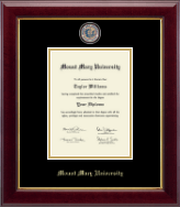 Mount Mary University Diploma Frame - Masterpiece Medallion Diploma Frame in Gallery