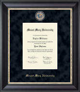 Mount Mary University Diploma Frame - Regal Edition Diploma Frame in Midnight