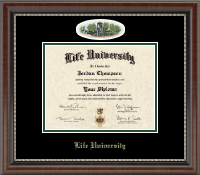 Life University Diploma Frame - Campus Cameo Diploma Frame in Chateau