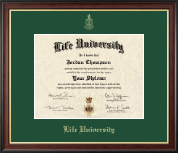 Life University Diploma Frame - Gold Embossed Diploma Frame in Studio Gold